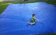 Tyler enjoying the church's Back to School Water Bash!