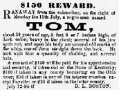 Run away slave reward