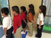 Super HAWK behavior in the hall.  WTG Mrs. Serrano's class.