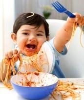 Baby LOVES Spaghetti