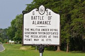 Battle of Alamance May 16, 1771