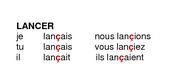 Les verbes qui terminent en -cer ou -ger sont orthographie différemment