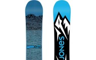 A snowboard (front and back)