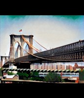 Original pic of Brooklyn Bridge using Prisma app!
