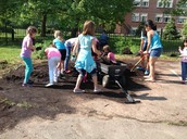 Students MOVE Soil to the Garden Beds