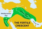 How far Elem City Middle school is from Mesopotamia.