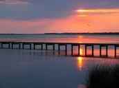 Roanoke Sound at Sunset