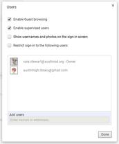 Managing User Profiles