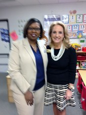Governor Nathan Deal's Education Outreach Liaison, Pam Williams, visits Benefield!