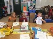 Our Buddies from Ms. Webbs class visit!