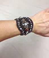Kahlo Bracelet - hematite $40