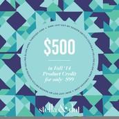 $500 Fall Product Credit coupon