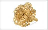 Geneve Lace Flower Ring Gold