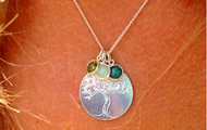 Tree of Life Charm with Birthstones