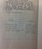 Wonderful graphic organizer for Problem and Solution