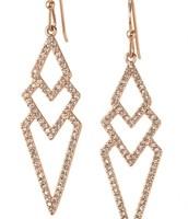  View Larger Pavé Spear Earrings - Rose Gold $24