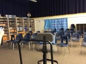 Rotational choir room.