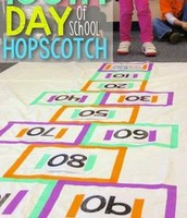 100th Day Hopscotch