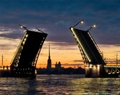 Dvortsovy Bridge- one of the symbols of St. Petersburg.