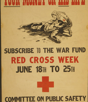 This poster was used to get people to donate to Red Cross