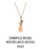 Dimple Rose Necklace in Gold