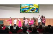 Elementary performing at the Christmas Program