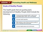 Goals of Healthy People