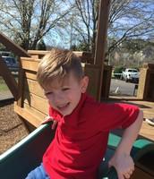 Bennett loves the slide!