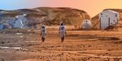 Astronauts on Mars mission .