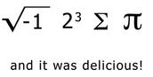 1st math joke