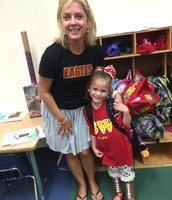 Mrs. Horman and one of the cutest little friends in K.