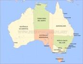 Mapa Australia político
