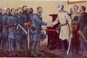 General Lee and General Grant shaking hands.