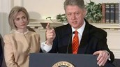 Clinton and his wife