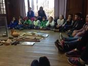 Third grade visits Indian Rock!