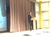 Inspector General Glenn Cunha kicks off the event at Estabrook School