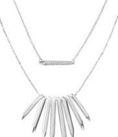 Rebel Cluster Necklace - Silver