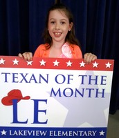 1st Grade Texan of the Month