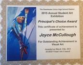 Principal's Choice Award Winner