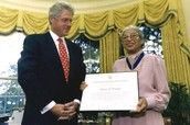 Rosa Parks with the Medal of Freedom