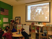 Skyping with our kindergarten friends.
