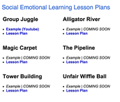 Lesson Plans for Socio-Emotional Learning