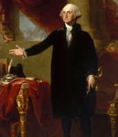 George Washington's portrait.