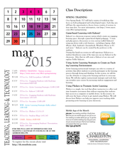 March Newsletter and Calendar
