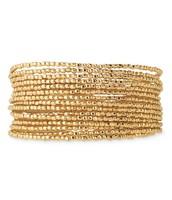 Bardot Spiral Bangle (gold)