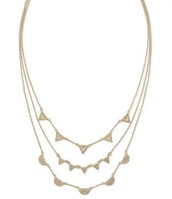 Gold Pave Chevron Necklace