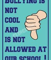 No bullys allowed in school.