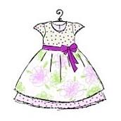 Vestido en colores pastel