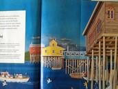 南美洲高脚水上木屋