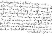 leonardo da vinci hand writing